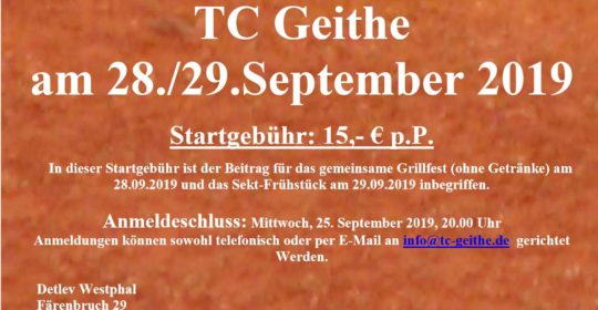 Mixed Turnier der TC Geithe 28.09. – 29.09.